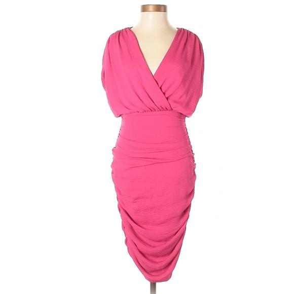 6f3d993e2 Alice + Olivia Dresses   Alice Olivia Pink Ruched Detail Dress ...